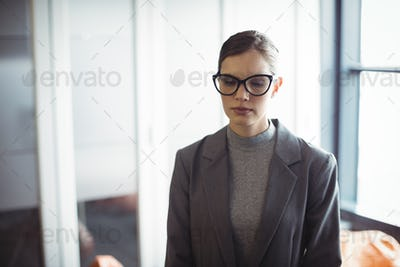 Counselor in glasses standing