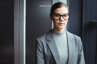 Counselor in glasses at office