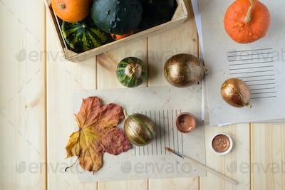 bronze color pumpkin