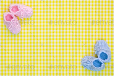 Baby booties background