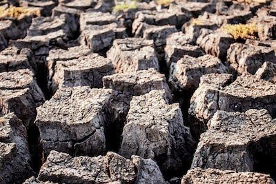 Arid soil with texture