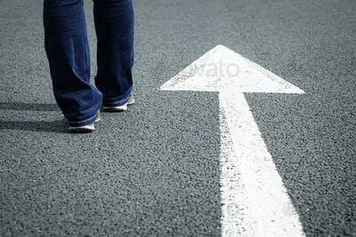Follow the direction arrow
