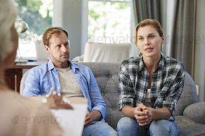 Young couple having marriage counselling