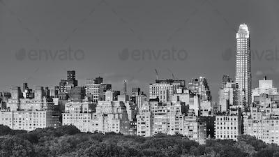 Manhattan Upper East Side at dusk, New York.