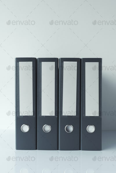 Gray file document ring binders