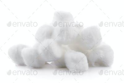cotton on white background