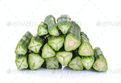 moringa on white background