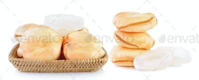 Asian Palmyra palm, Toddy palm, Sugar palm on white background