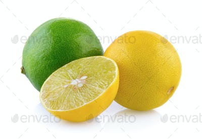 limes on white background