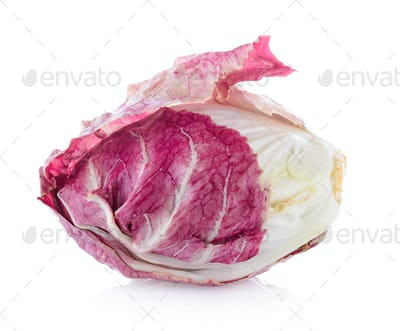 Radicchio, red salad isolated on white background