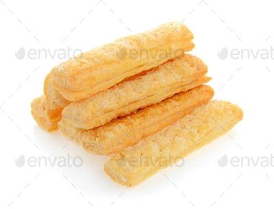 Pie or bread Sticks on white background