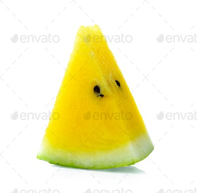 yellow watermelon on white background