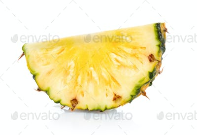 pineapple font view isolated on white background