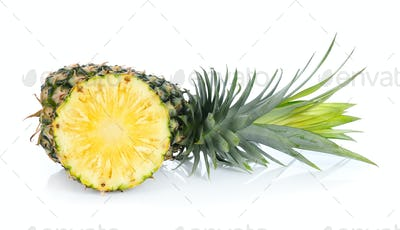 pineapple on white background