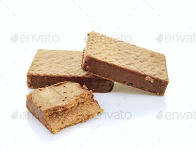 Wafer isolated on white