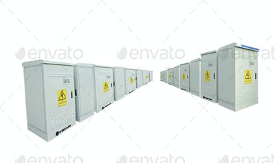 The communication server box on white background