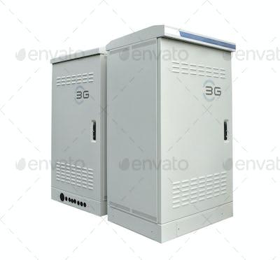 The communication server box on white background
