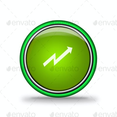 green shiny button with elements,  design for website.