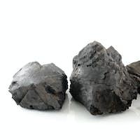 Coal on white background