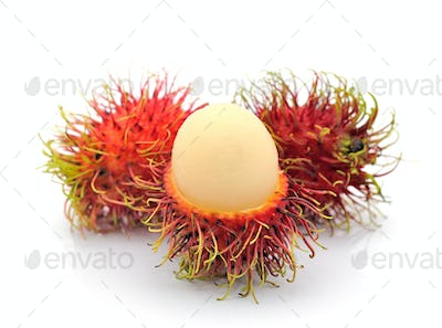 ambutan, asian fruit, on white background
