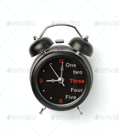 alarm watch clock on white background