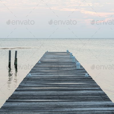 Wooden Jetty At Dawn