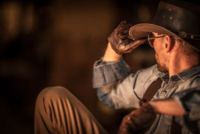 Resting American Cowboy