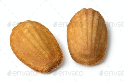 Two fresh baked French madeleines