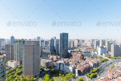 modern buildings in shanghai