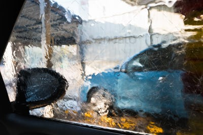 inside a car washing machine