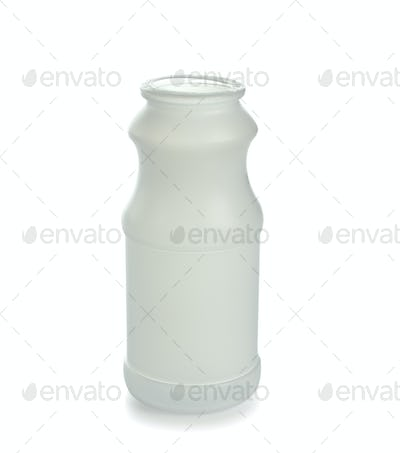 Empty plastic bottle isolated on a white background