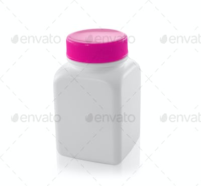 white bottles isolated on a white background