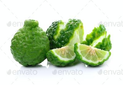 Bergamot fruit on white background