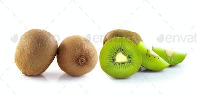 Juicy kiwi fruit isolated on white background