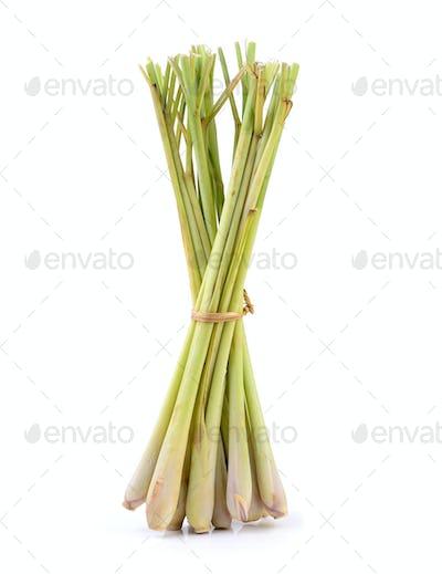 lemongrass on white background