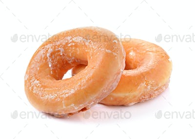 Donuts on a white background