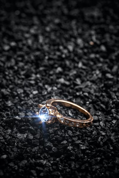Ring decorated with crystal