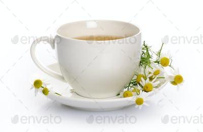 cup of chamomile tea