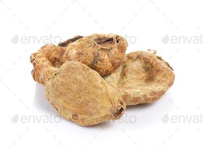 Terminalia chebula Retz. var chebula on white background