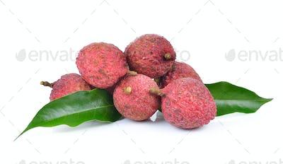 Fresh lychee isolated on white background