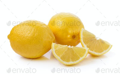 Fresh lemon isolated on a white background