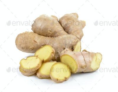 ginger on white background