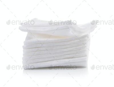 Cotton bandage on white background