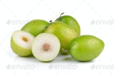 Monkey apple isolated on white background