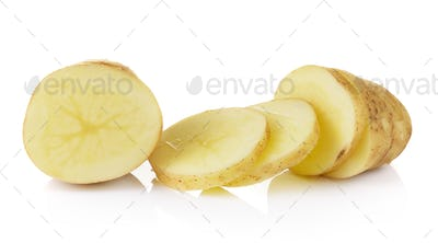 potato on white background