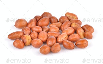 peanats on white background