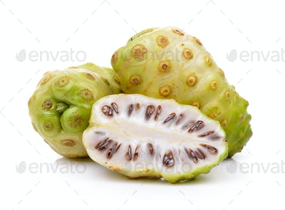 Exotic Fruit, Noni fruits on white background