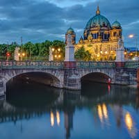 The Schlossbruecke and the cathedral in Berlin