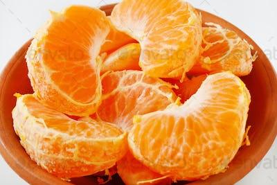 slices of fresh tangerine
