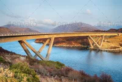 The Kylesku Bridge in Scotland